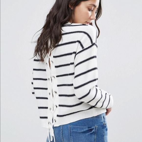 a76e46ffd9d ASOS Sweaters - ASOS Brave Soul London Lace up back sweater